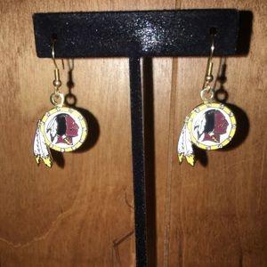 Washington Redskin earrings